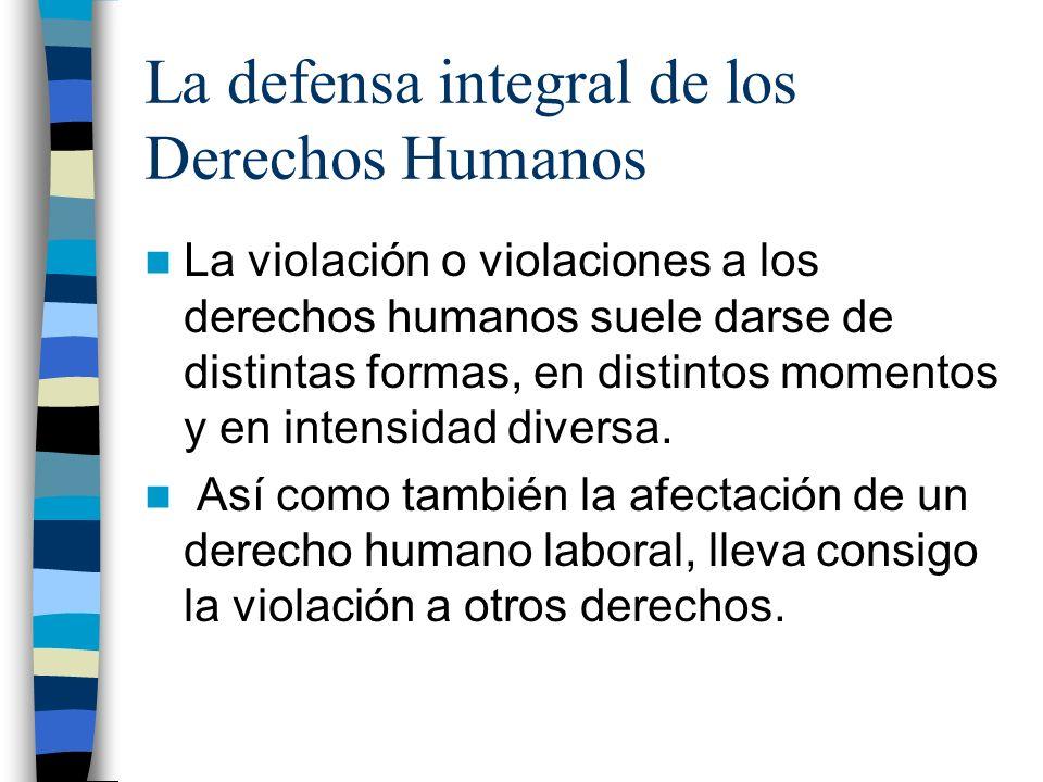 La defensa integral de los Derechos Humanos