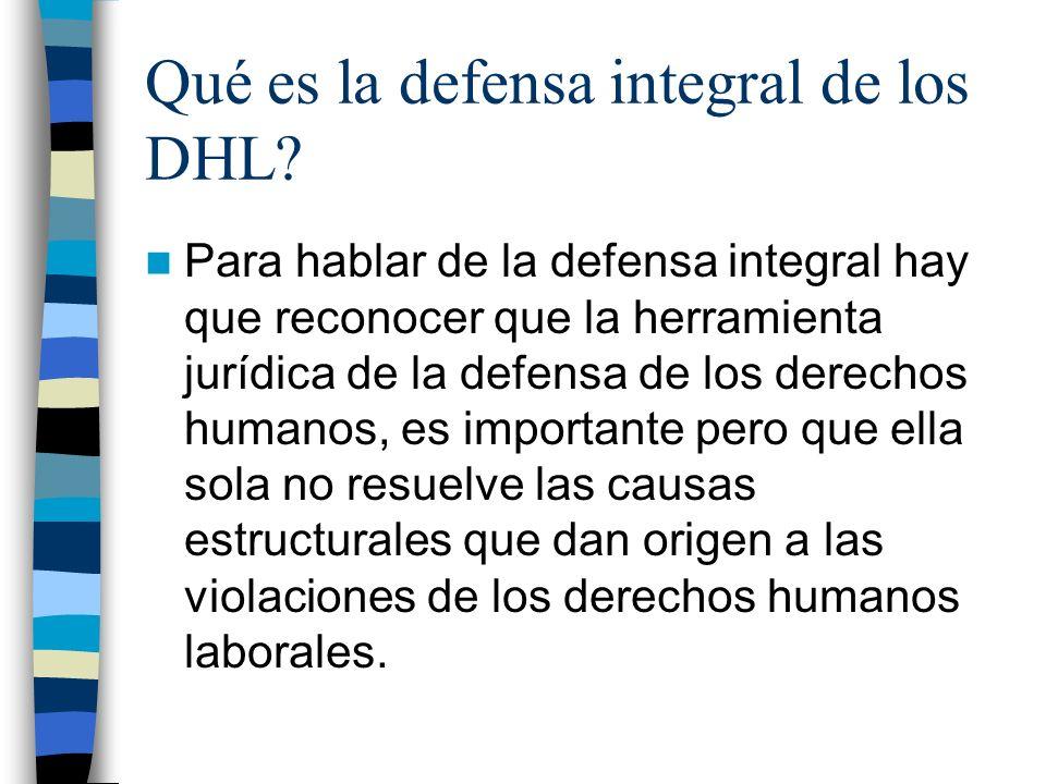 Qué es la defensa integral de los DHL