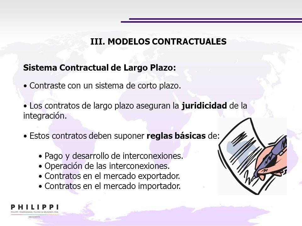 III. MODELOS CONTRACTUALES