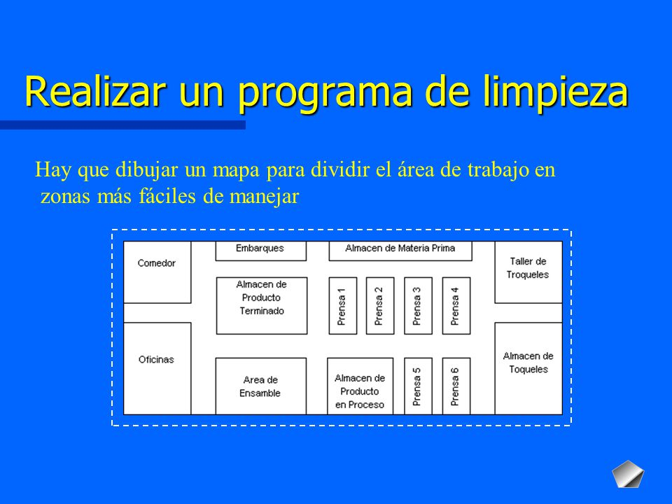 Programa integral para implementar proyectos de 5 s ppt for Trabajo para limpiar oficinas