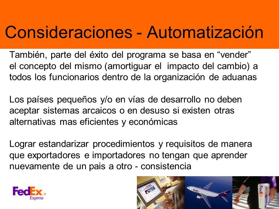 Consideraciones - Automatización
