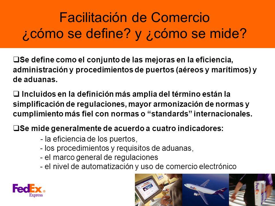 Facilitación de Comercio ¿cómo se define y ¿cómo se mide