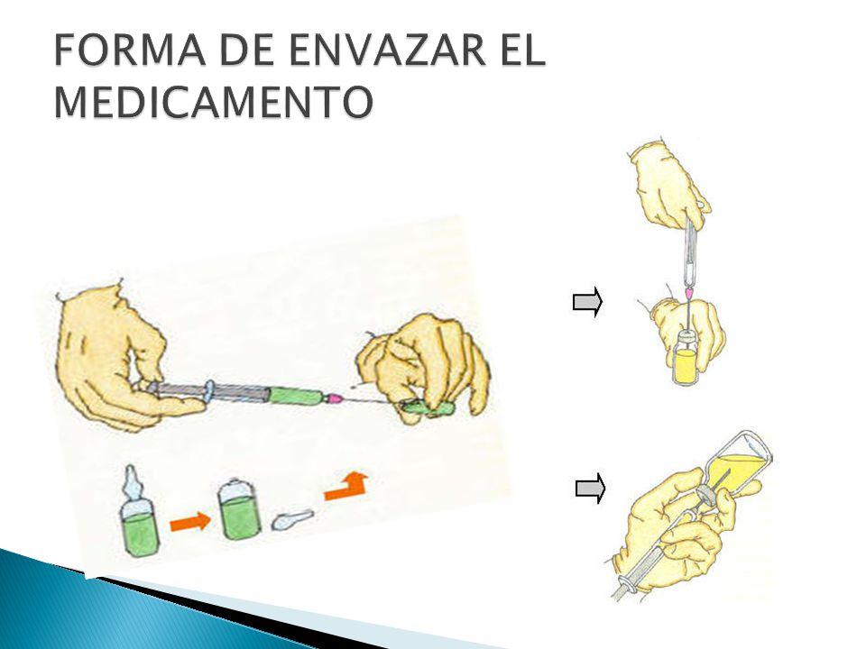 FORMA DE ENVAZAR EL MEDICAMENTO