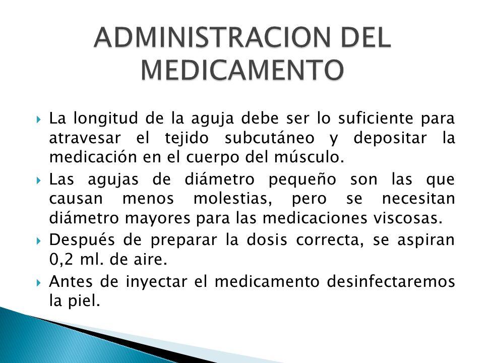 ADMINISTRACION DEL MEDICAMENTO