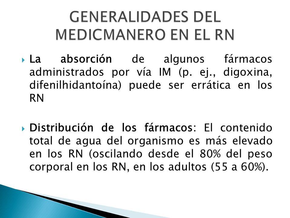 GENERALIDADES DEL MEDICMANERO EN EL RN