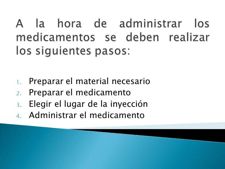 A la hora de administrar los medicamentos se deben realizar los siguientes pasos: