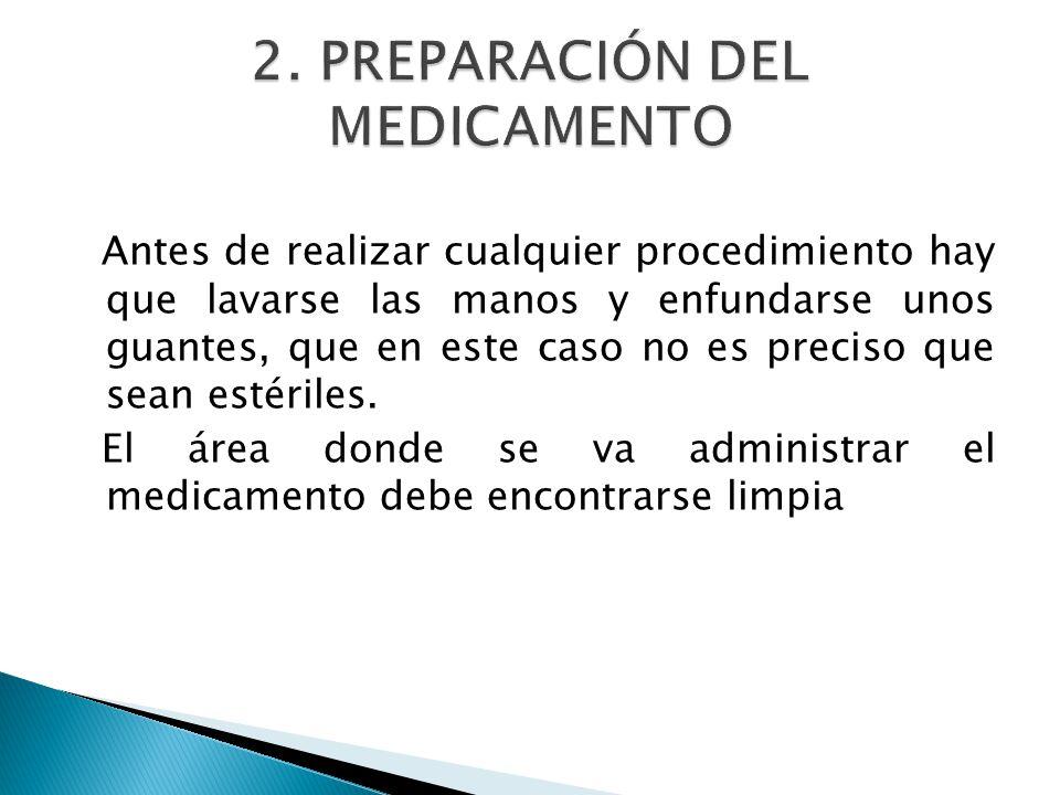 2. PREPARACIÓN DEL MEDICAMENTO