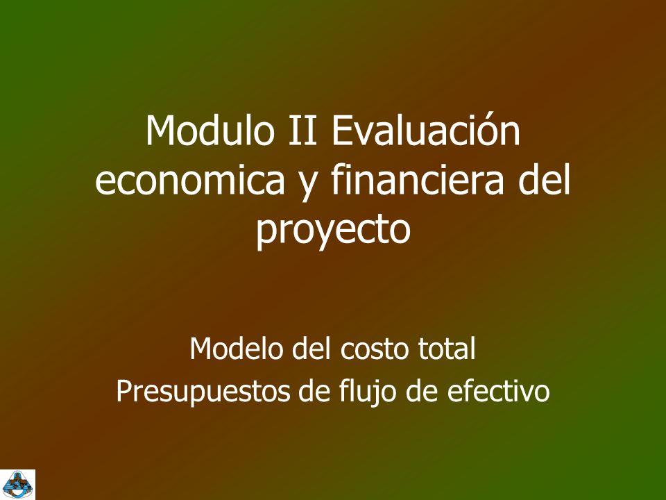 Modulo II Evaluación economica y financiera del proyecto