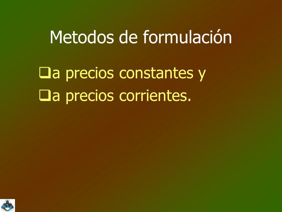 Metodos de formulación