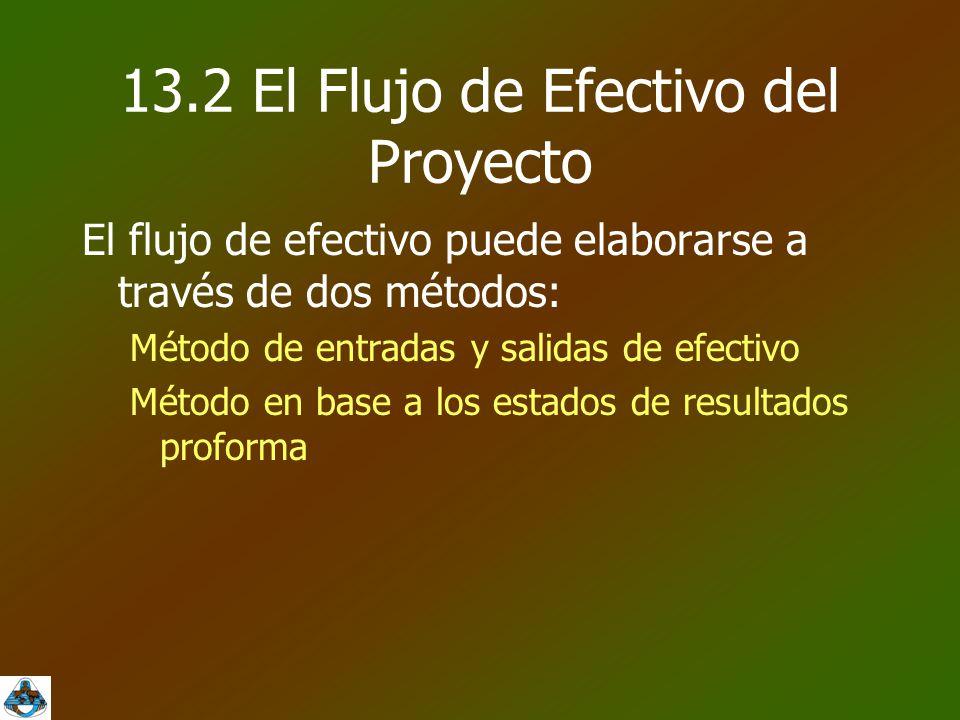 13.2 El Flujo de Efectivo del Proyecto