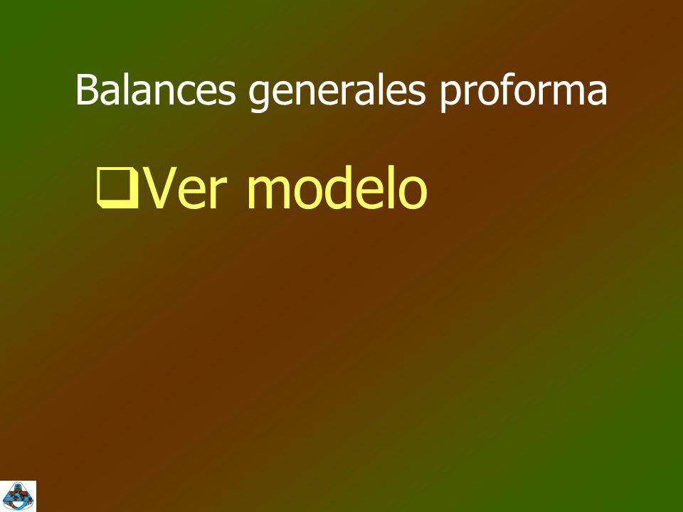 Balances generales proforma