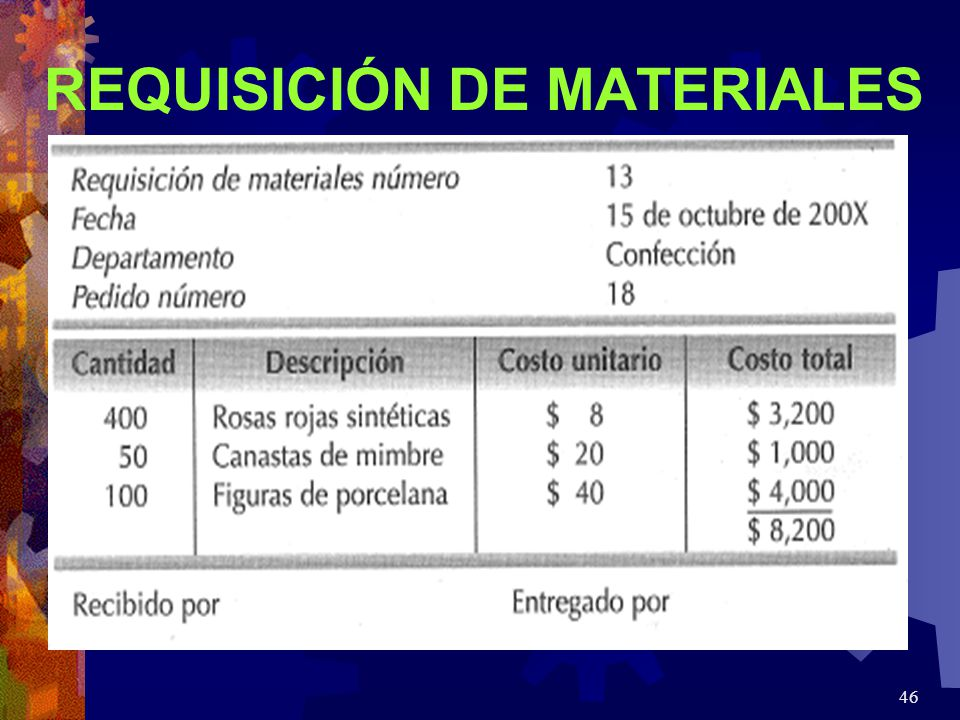 REQUISICIÓN DE MATERIALES