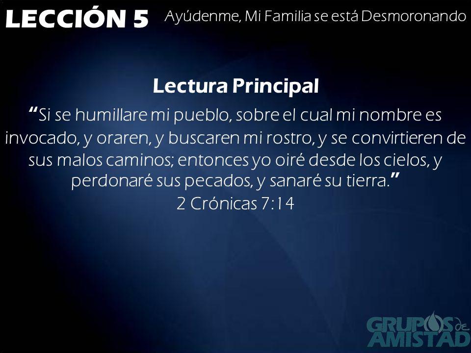 LECCIÓN 5 Lectura Principal