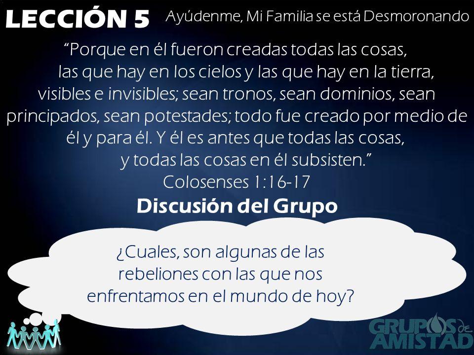 LECCIÓN 5 Discusión del Grupo