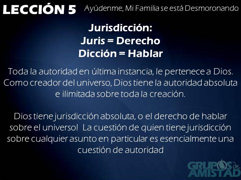 Jurisdicción: Juris = Derecho Dicción = Hablar
