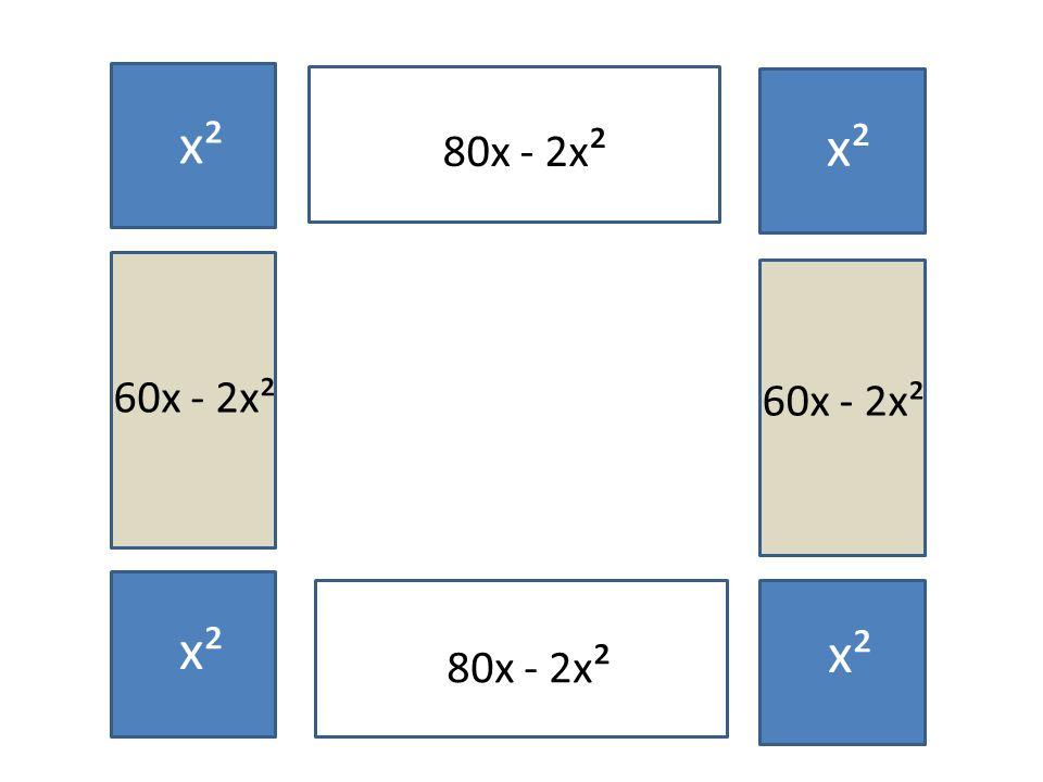 x² 80x - 2x² x² x² 60x - 2x² 60x - 2x² x² x² 80x - 2x² x²