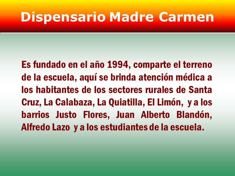 Dispensario Madre Carmen