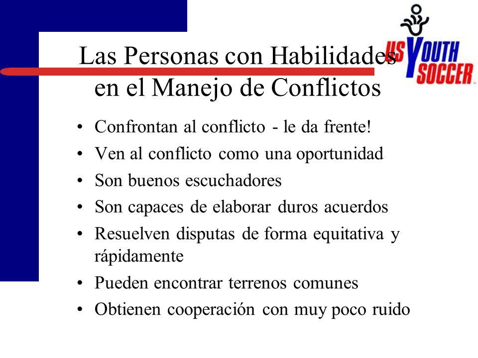 Las Personas con Habilidades en el Manejo de Conflictos