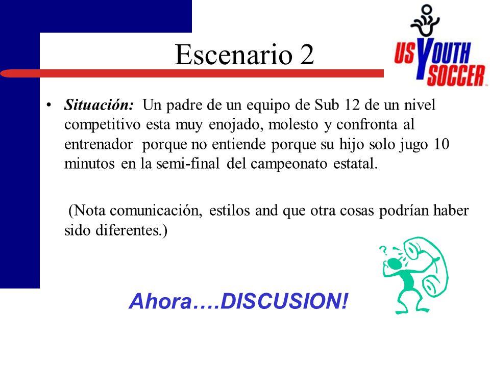 Escenario 2 Ahora….DISCUSION!