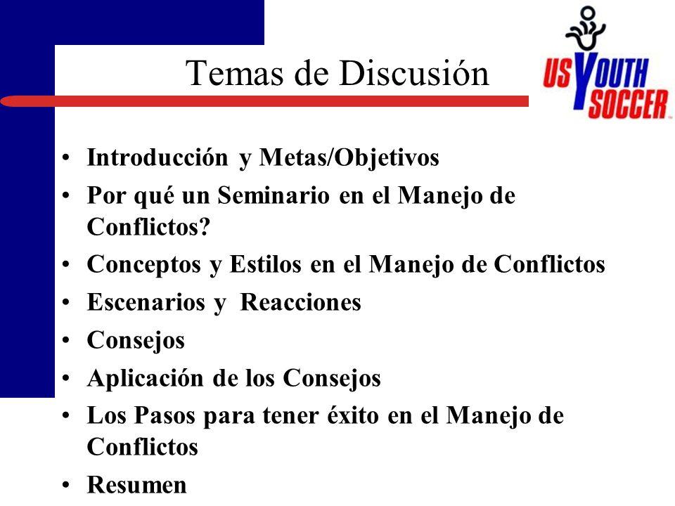 Temas de Discusión Introducción y Metas/Objetivos