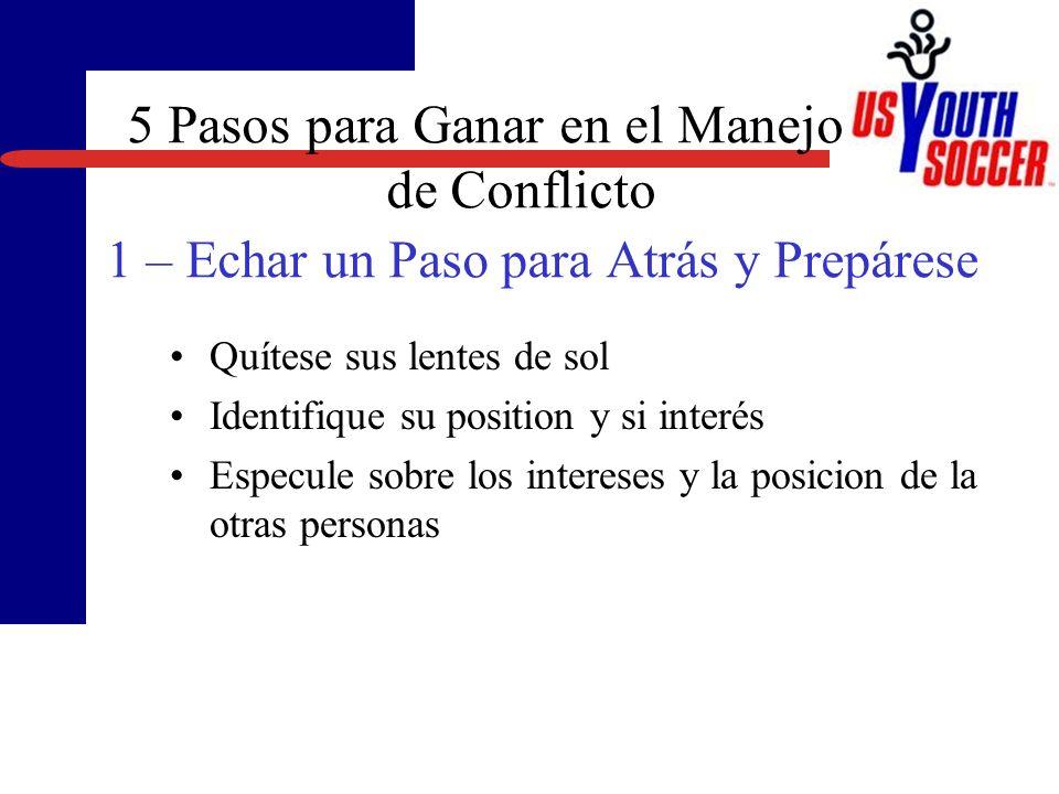 3/23/2017 5 Pasos para Ganar en el Manejo de Conflicto 1 – Echar un Paso para Atrás y Prepárese.