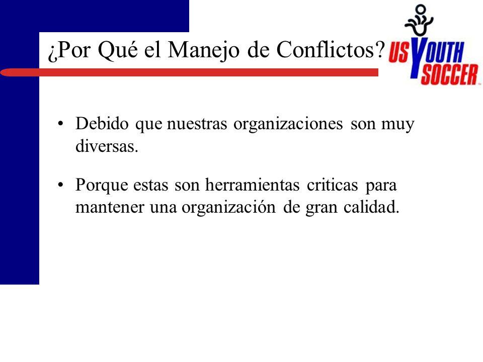 ¿Por Qué el Manejo de Conflictos