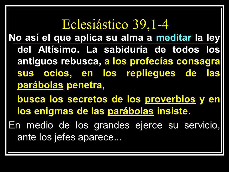 Eclesiástico 39,1-4