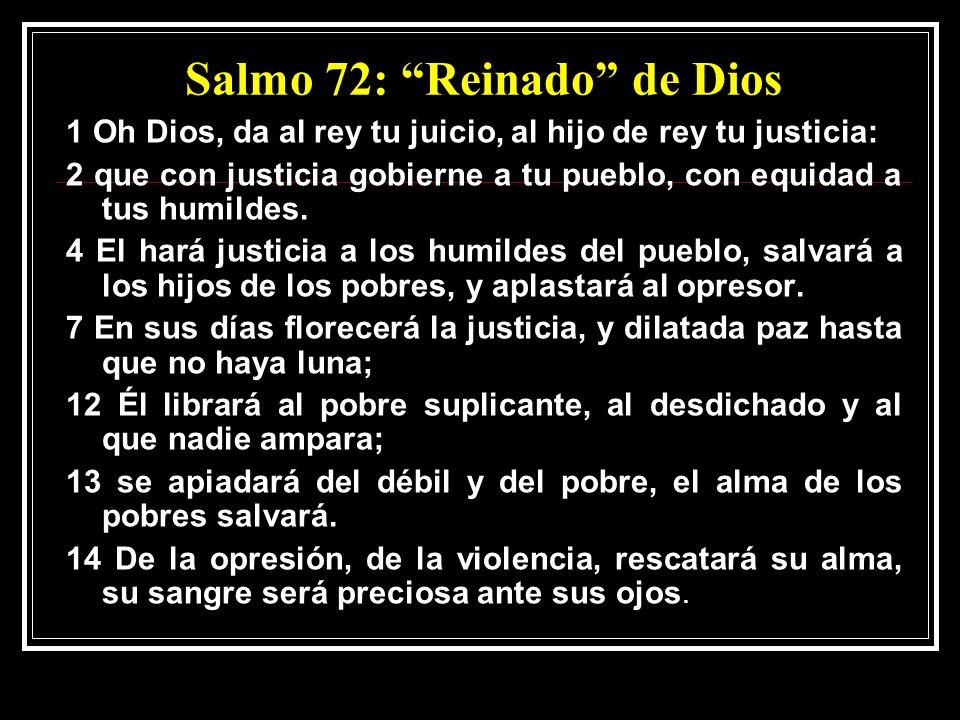 Salmo 72: Reinado de Dios