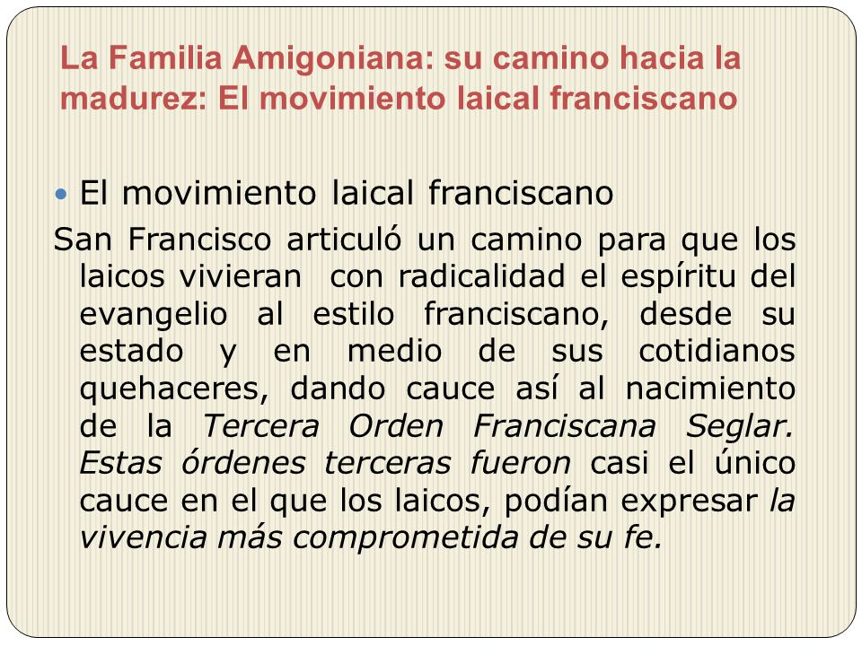 El movimiento laical franciscano