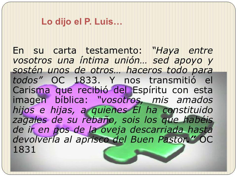 Lo dijo el P. Luis…