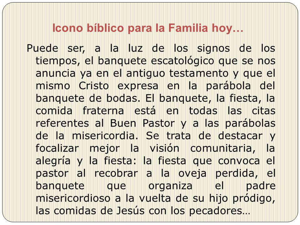 Icono bíblico para la Familia hoy…