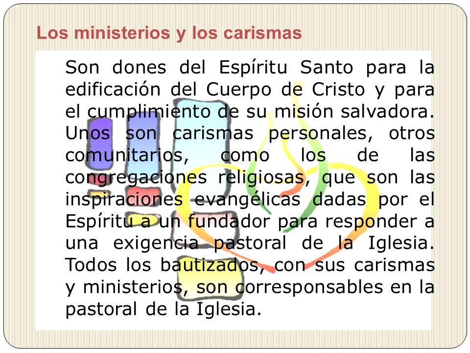 Los ministerios y los carismas