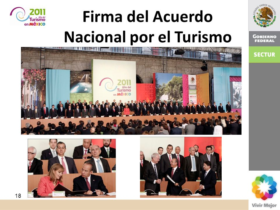 Firma del Acuerdo Nacional por el Turismo