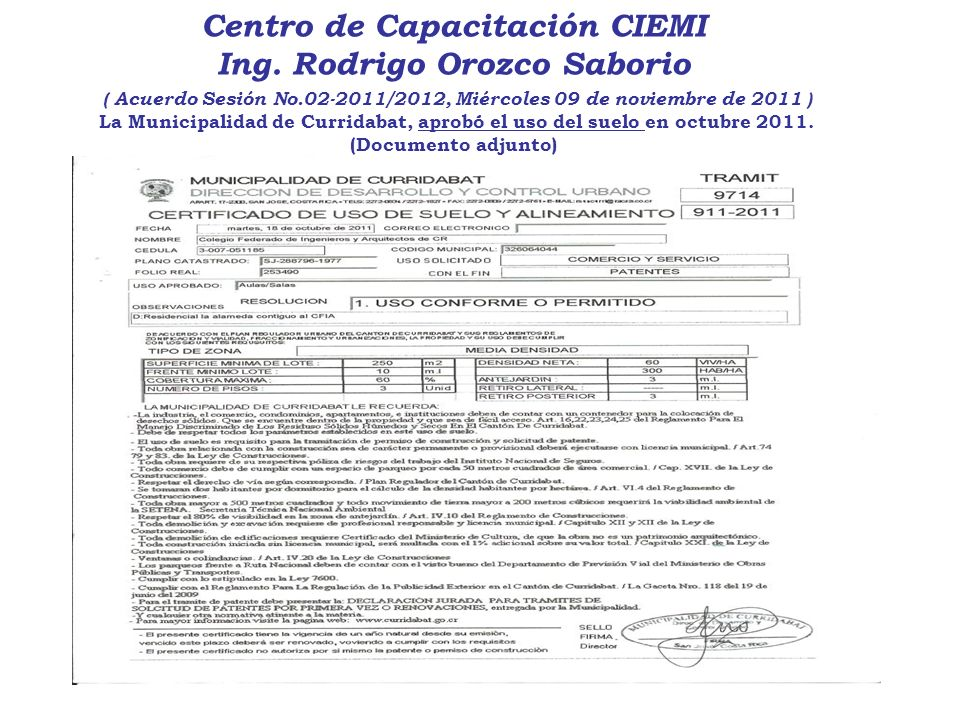 Centro de Capacitación CIEMI Ing