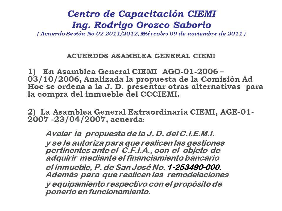 ACUERDOS ASAMBLEA GENERAL CIEMI