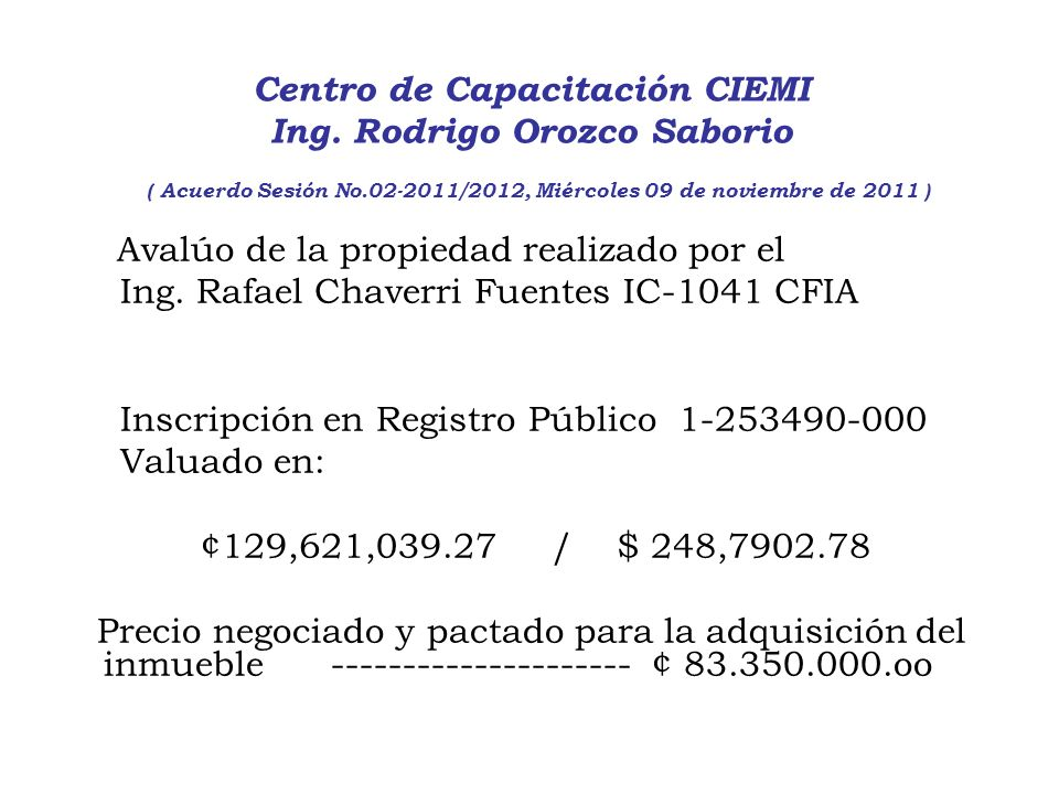 Ing. Rafael Chaverri Fuentes IC-1041 CFIA