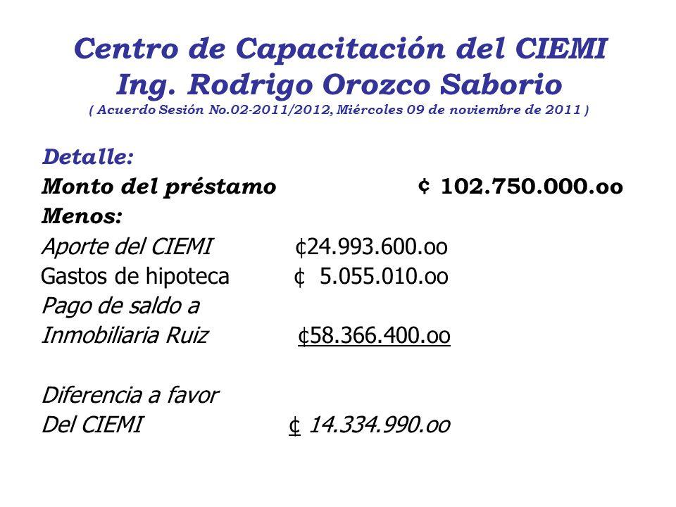 Centro de Capacitación del CIEMI Ing