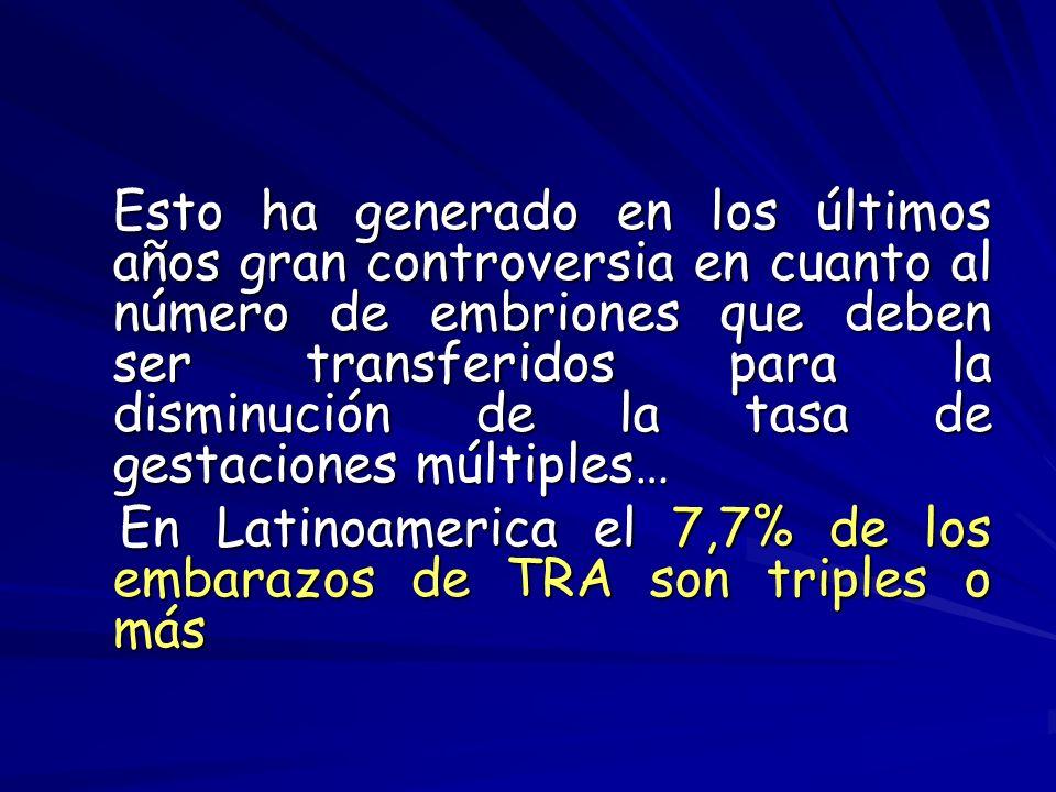 En Latinoamerica el 7,7% de los embarazos de TRA son triples o más