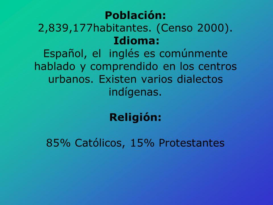 Población: 2,839,177habitantes. (Censo 2000)