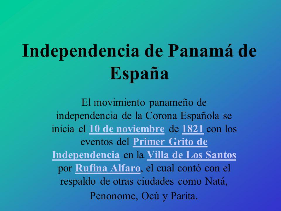 Independencia de Panamá de España