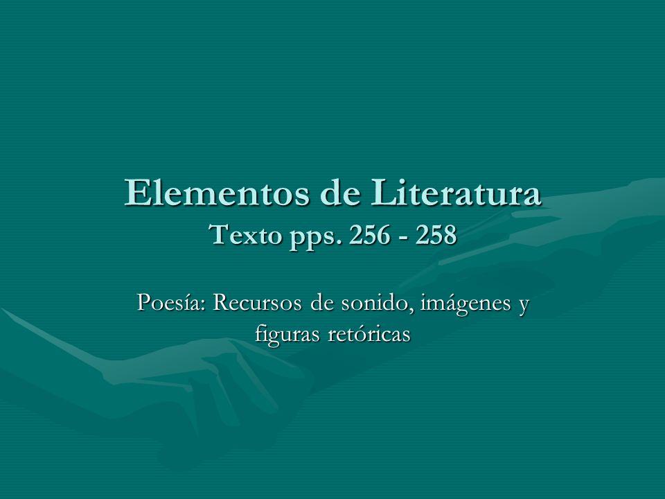 Elementos de Literatura Texto pps. 256 - 258