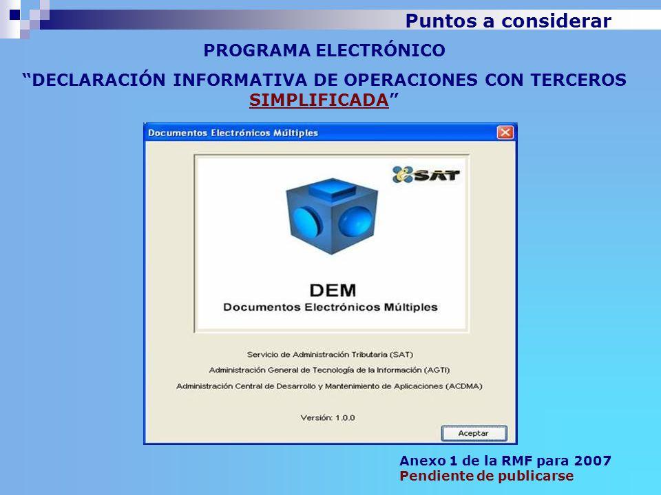 DECLARACIÓN INFORMATIVA DE OPERACIONES CON TERCEROS SIMPLIFICADA
