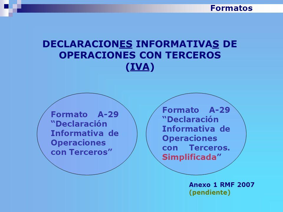 DECLARACIONES INFORMATIVAS DE OPERACIONES CON TERCEROS (IVA)