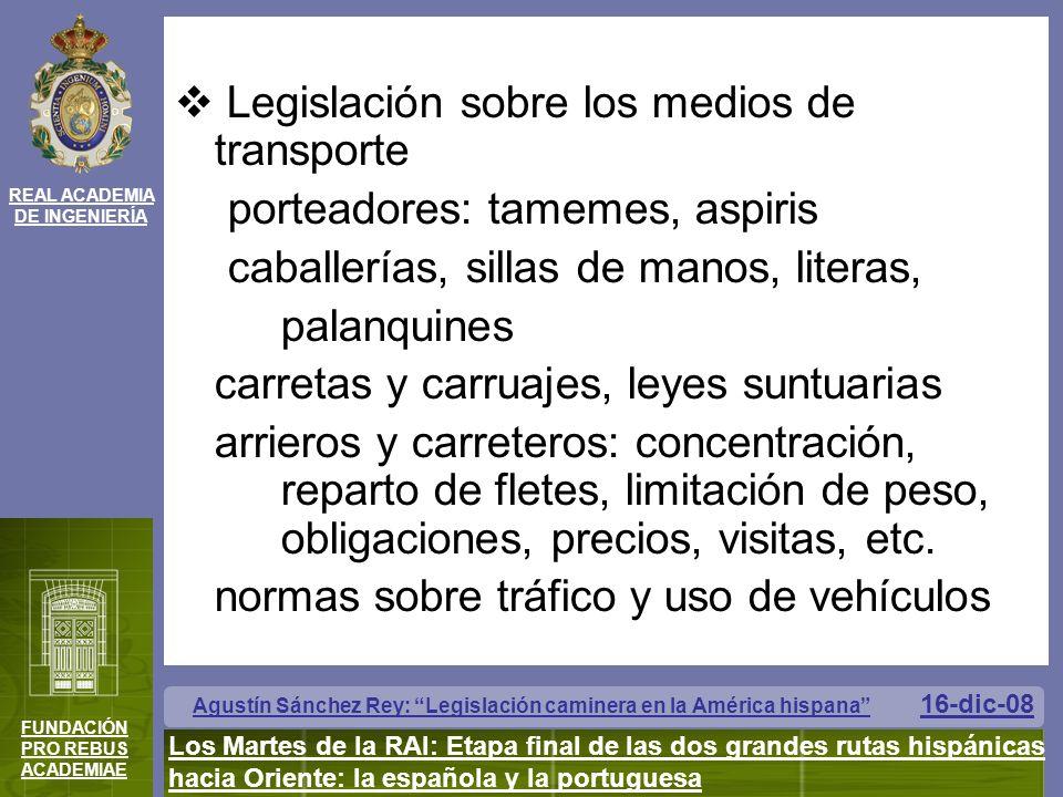 Legislación sobre los medios de transporte