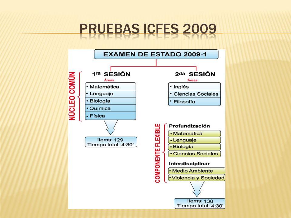 PRUEBAS ICFES 2009