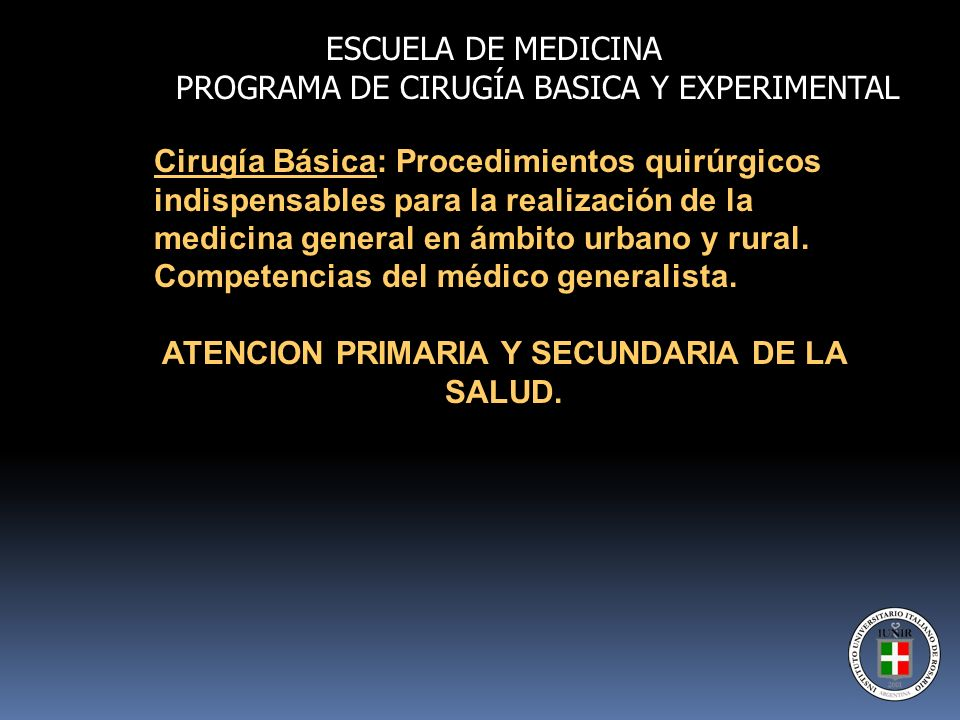ATENCION PRIMARIA Y SECUNDARIA DE LA SALUD.