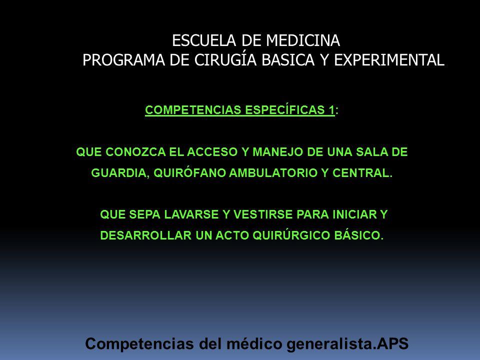 COMPETENCIAS ESPECÍFICAS 1:
