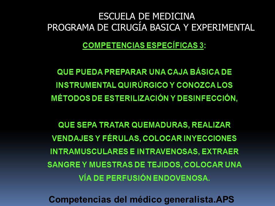 COMPETENCIAS ESPECÍFICAS 3: