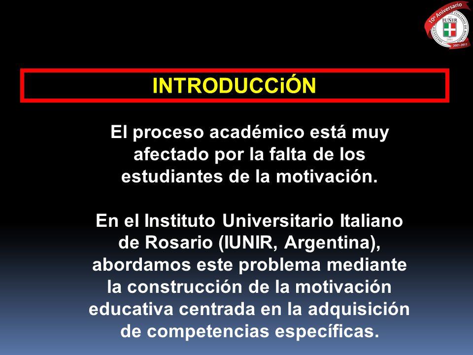 INTRODUCCiÓN El proceso académico está muy afectado por la falta de los estudiantes de la motivación.