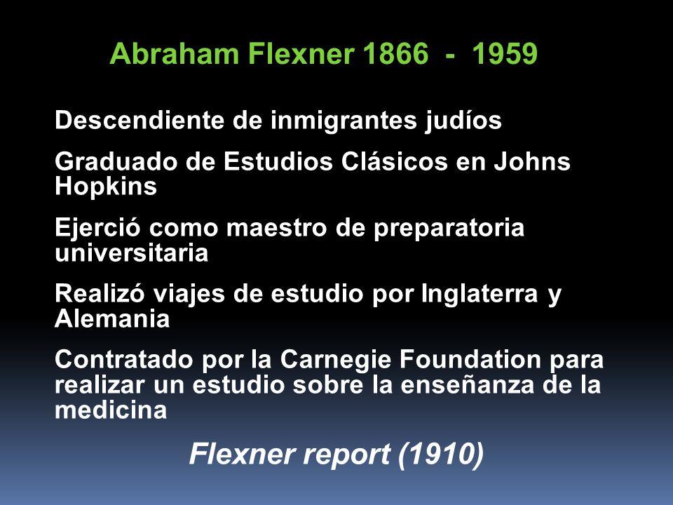 Abraham Flexner 1866 - 1959 Flexner report (1910)